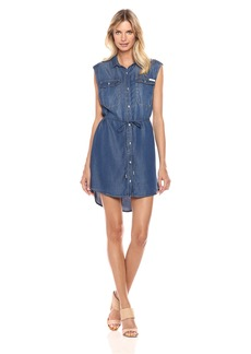 Calvin Klein Jeans Women's Sleeveless Denim Dress