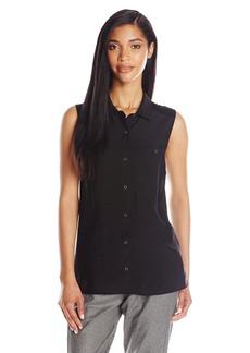 Calvin Klein Jeans Women's Sleeveless Knit Back Utility Shirt