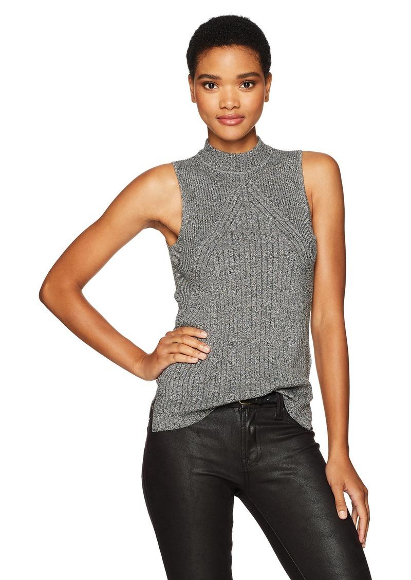 Calvin Klein Jeans Women's Sleeveless Mock Neck Pullover Top
