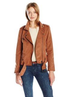 Calvin Klein Jeans Women's Soft Suede Biker Jacket