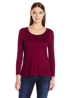 Calvin Klein Jeans Women's 3/4 Sleeve Split Back T-Shirt