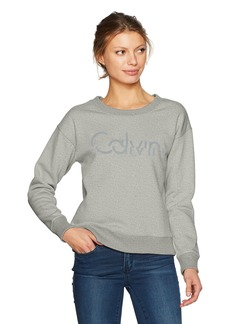 Calvin Klein Jeans Women's Split Calvin Logo Sweatshirt  X-LARGE