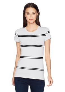 Calvin Klein Jeans Women's Stripe Iconic Logo T-Shirt  2X Small