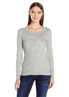 Calvin Klein Jeans Women's Studded Ck Logo Sweater