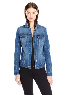 Calvin Klein Jeans Women's Studded Trucker Jacket  LARGE