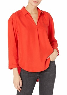 Calvin Klein Jeans Women's Sueded Modal POP Over Blouse  S
