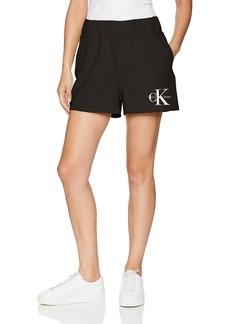 Calvin Klein Jeans Women's Terry Short Monogram Logo  L