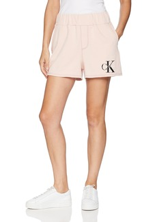 Calvin Klein Jeans Women's Terry Short Monogram Logo  XL
