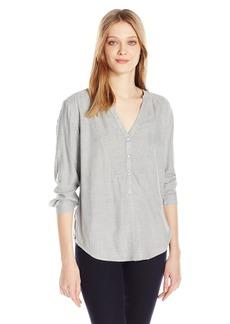 Calvin Klein Jeans Women's V-Neck Blouse  SMALL
