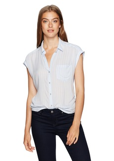 Calvin Klein Jeans Women's Whisper Weight Pop Over Blouse  LARGE