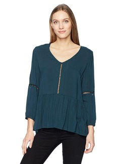 Calvin Klein Jeans Women's Drop Waist Peasant Blouse