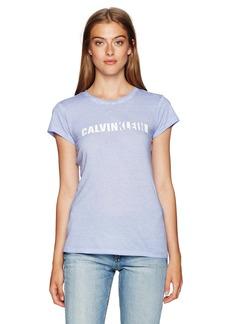 Calvin Klein Jeans Women's Women's Short Sleeve T-Shirt Iconic Logo