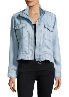 Calvin Klein Jeans Zip-Front Chambray Jacket