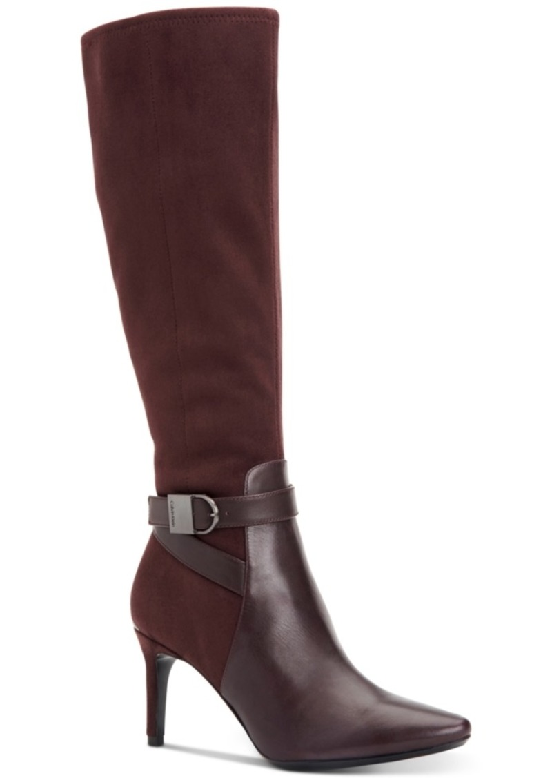 ba57d87961 Calvin Klein Jemamine Tall Dress Boots Created for Macy's Women's Shoes