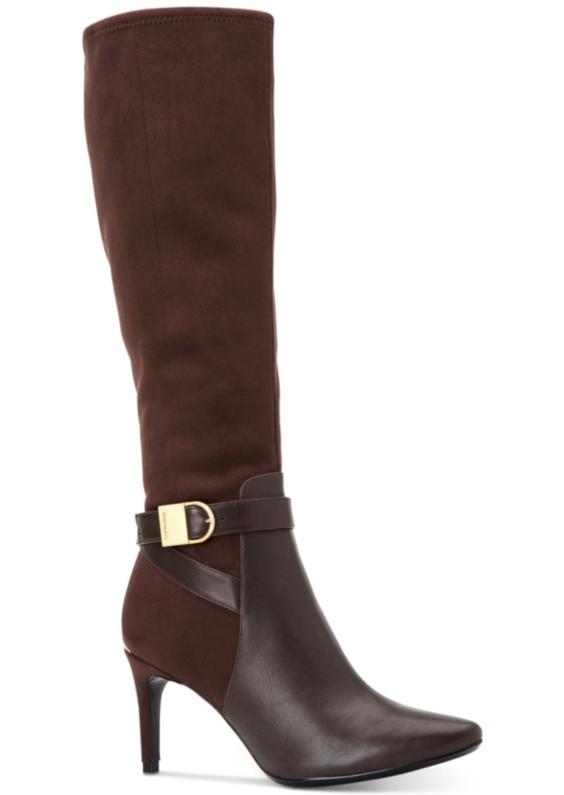 a92cd86b094 Calvin Klein Jemamine Wide Calf Tall Dress Boots Created for Macy s Women s  Shoes