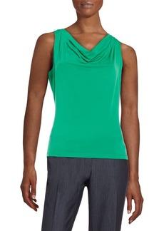 Calvin Klein Jersey-Knit Cowlneck Top