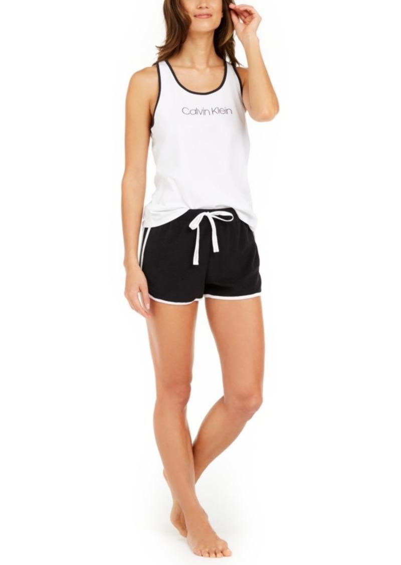 Calvin Klein Jersey Tank Top & French Terry Shorts Pajama Set