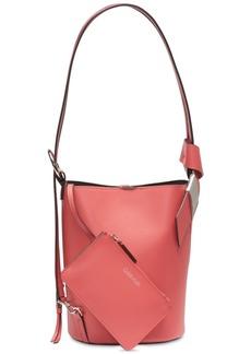 Calvin Klein Karsyn Leather Convertible Hobo Backpack