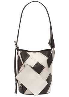 Calvin Klein Karsyn Leather Studded Convertible Hobo Backpack