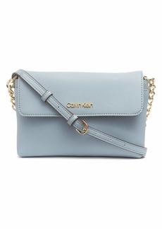 Calvin Klein Key Item Saffiano Flap Chain Crossbody TWILIGHT BLUE