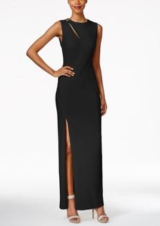 Calvin Klein Keyhole Column Gown