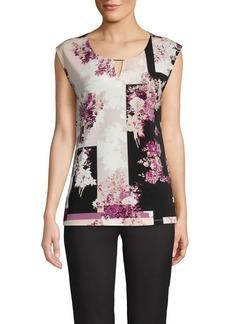 Calvin Klein Keyhole Floral-Print Top