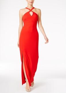 Calvin Klein Keyhole Halter Gown