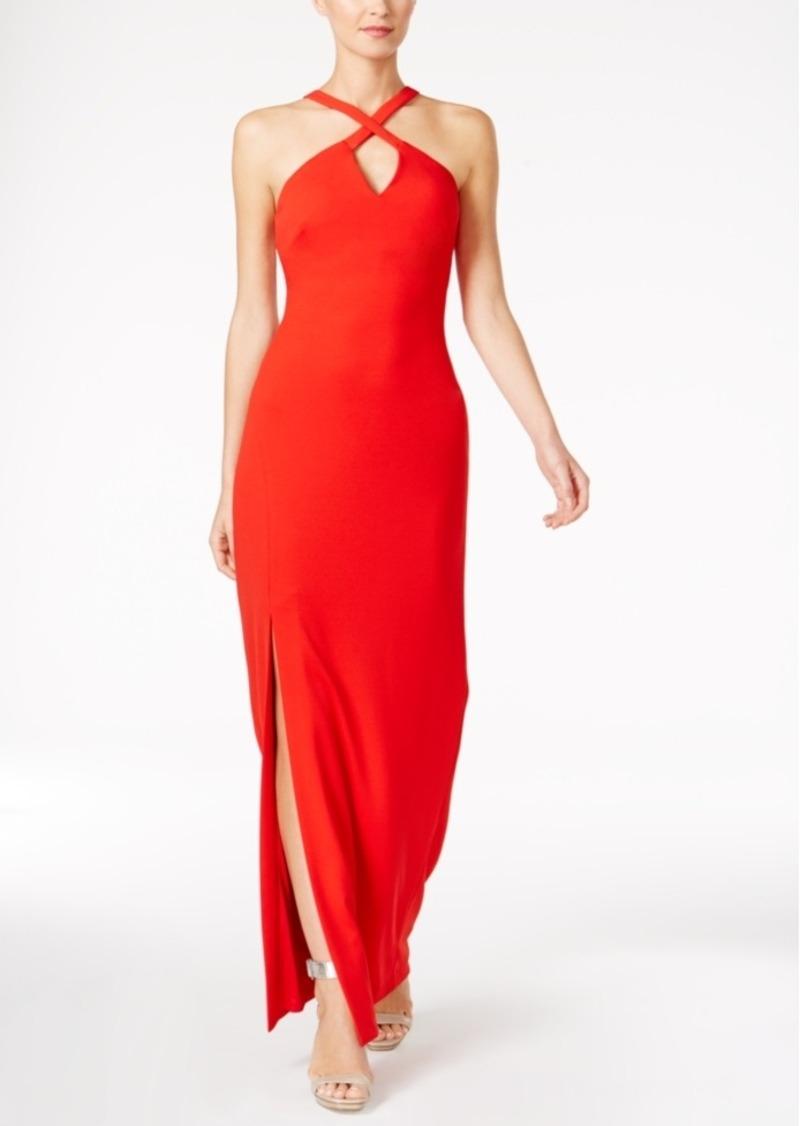 Calvin Klein Calvin Klein Keyhole Halter Gown
