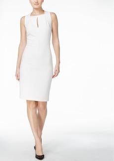 Calvin Klein Keyhole Scuba Crepe Sheath Dress