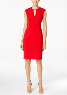 Calvin Klein Keyhole Sheath Dress