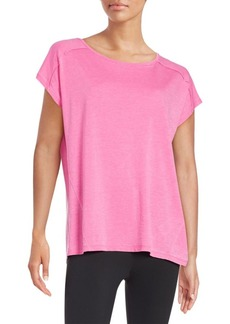 Calvin Klein Performance Knit Keyhole Top