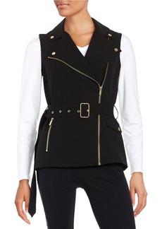 CALVIN KLEIN Knit Moto Vest