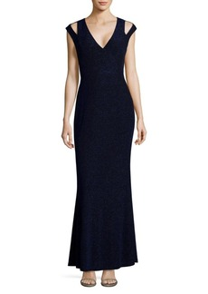 Calvin Klein Knitted Sleeveless Floor-Length Gown