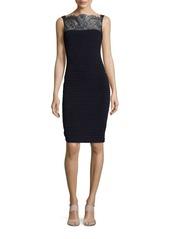 Calvin Klein Lace-Accented Sheath Dress