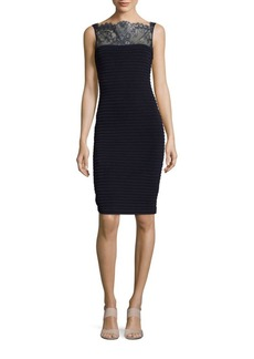 Calvin Klein Lace-Accented Sheath Dress