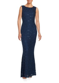 Calvin Klein Lace and Sequin Gown