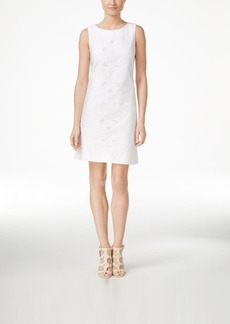 Calvin Klein Lace Eyelet Sleeveless Sheath Dress