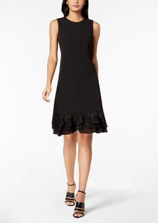 Calvin Klein Lace-Flower A-Line Dress