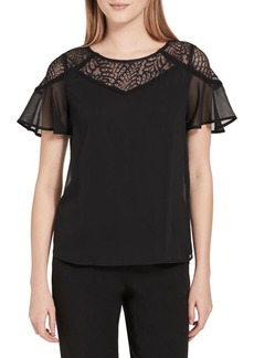 Calvin Klein Lace Illusion Top