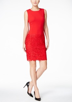 Calvin Klein Lace-Inset Sheath Dress