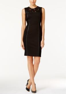 Calvin Klein Lace-Panel Sheath Dress