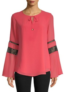 Lace-Paneled Blouse