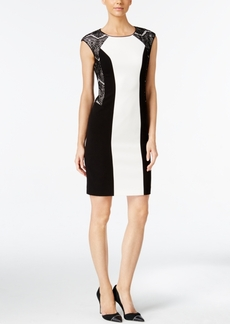 Calvin Klein Lace-Paneled Sheath Dress