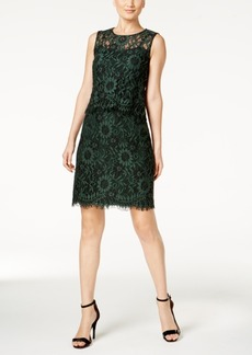 Calvin Klein Lace Popover Sheath Dress