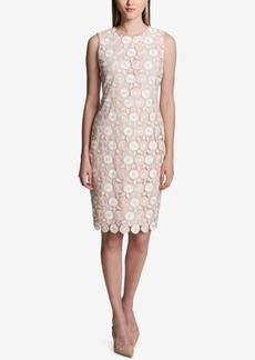 Calvin Klein Lace Scuba Sheath Dress