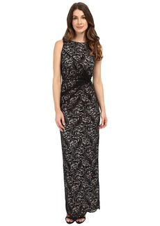 Calvin Klein Lace Side Twist Gown