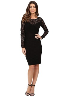 Calvin Klein Lace Sleeve Pin Tuck Dress CD6A1A46