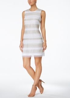Calvin Klein Lace-Stripe Sheath Dress