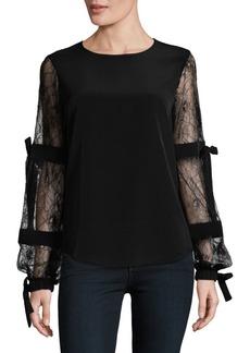 Calvin Klein Lace-Tie Blouse