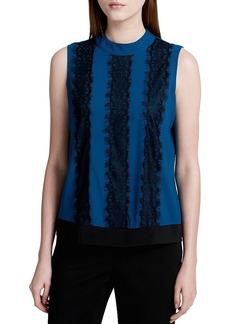 Calvin Klein Lace Trim Blouse
